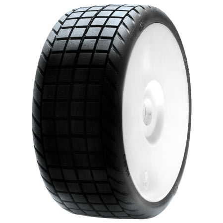 1/8 DLM2 Tires, Mounted with Horizon LOSA17757