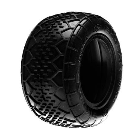 Rear BK Bar Truck Tire w/Inserts, Pink (2) Horizon LOSA7643P