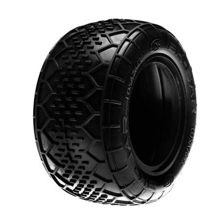 Rear BK Bar Truck Tire w/Inserts, Silver (2) Horizon LOSA7643S