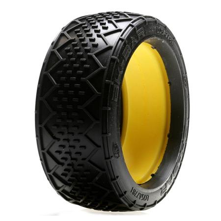 1/8 BK Bar G2 Buggy Reifen mit Einlage, Grün/Weich (2) Horizon LOSA7781G