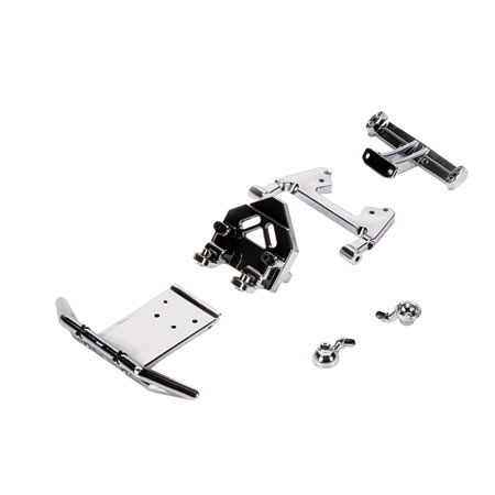 Bumper/Strut/Mount Set, Chrome: Mini Desert Buggy Horizon LOSB11