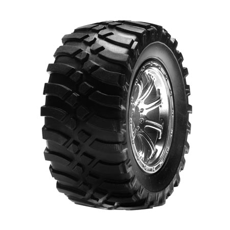 Front Mounted Tire, Chrome: M Horizon LOSB1187