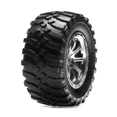 Rear Mounted Tire, Chrome: MH Horizon LOSB1188
