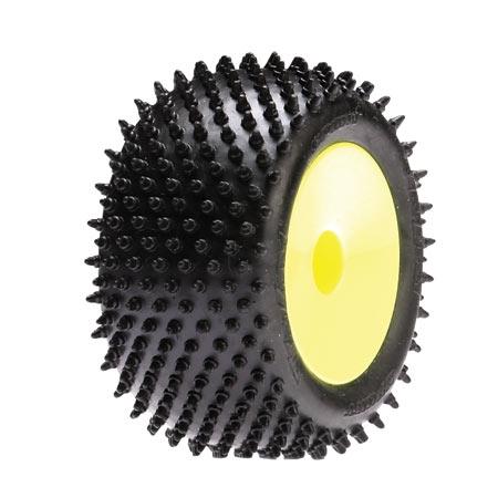 Rear Step Pins Glued,Yellow Wheels: Mini-T (2) Horizon LOSB1189