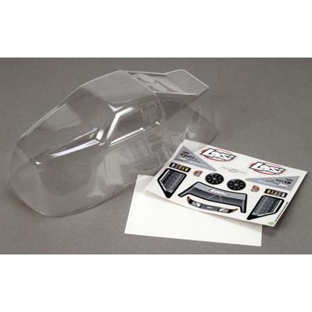 1/18 Grappler Pro Body, klar mit Sticker & Mask Horizon LOSB1379