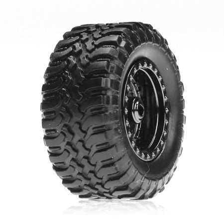 Losi Desert Reifen Set montiert/ Schwarz Chrome (4):Micro DT Horizon LOSB1572