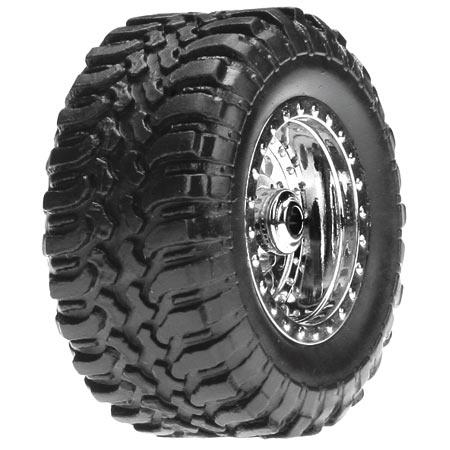Losi Desert Reifen Set montiert/ Chrome (4): Micro DT Horizon LOSB1573
