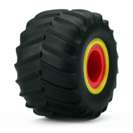 Fr/R Tire & Wheel Set, Mounte Horizon LOSB1574