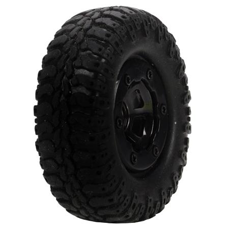 Scale AT Tire & Wheel, Mounted (4) :Mc4x4 Horizon LOSB1578