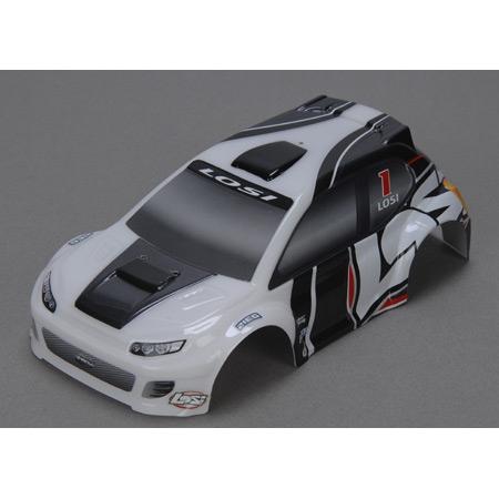 Losi 1/24 4WD Rally Karosserie, Grau Horizon LOSB1786