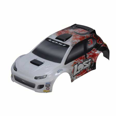 Losi 1/24 4WD Rally Karosserie, Rot Horizon LOSB1788