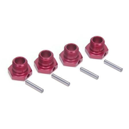 Wheel Hex Set, Red (4): 8T 2. Horizon LOSB3507