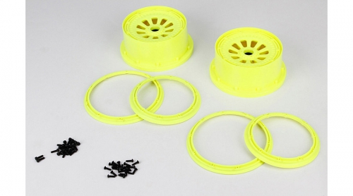 LOSI Felge und Beadlock Set Neongelb (2) 5T Horizon LOSB7035
