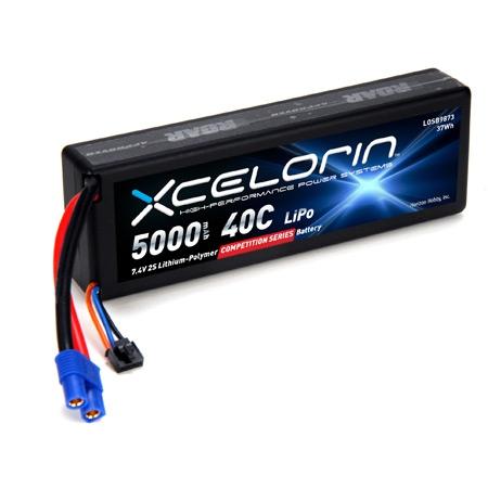 7.4V 5000mAh 2S 40C LiPo Horizon LOSB9873