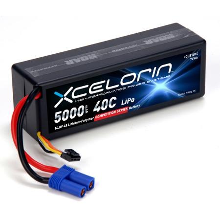 14.8V 5000mAh 4S 40C LiPo Horizon LOSB9874