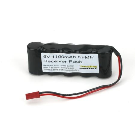 6V 1100mAh NiMH Receiver Pack Horizon LOSB9950