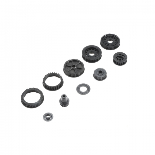 Drive & Differential Pulley Set: 22-4/2.0 Horizon TLR232046