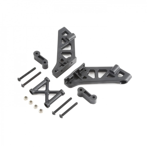 L/R Wing Mount, Brace & Spacer: 5IVE B Horizon TLR250003