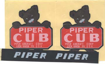 Dekorsatz Piper J-3 50 cc Krick 14556