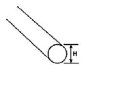 AR-2H Acryl-Rundstab transparent klar Ø1,6x225mm (40) Krick 190291