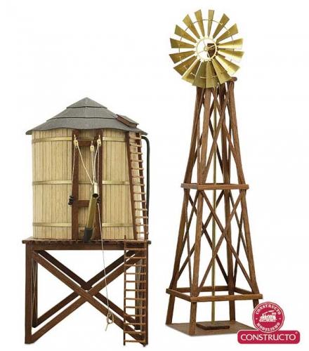 Wasserturm + Mühle  H0 Bausatz Krick 23310