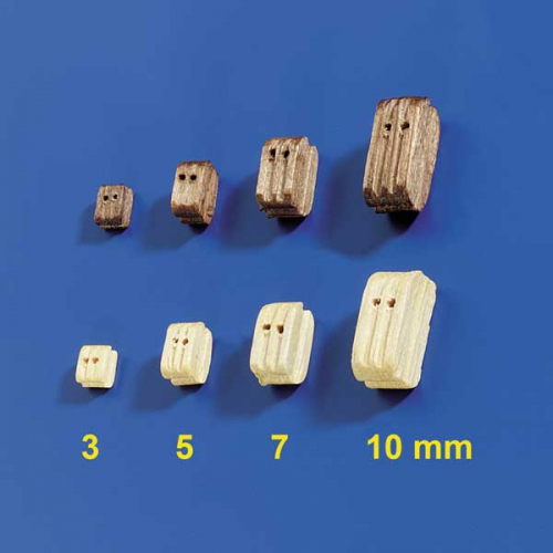 Doppelblöcke 5mm (10 Stück) Krick 60882