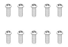 Schrauben BT 2,6x6 (10) Krick 850097