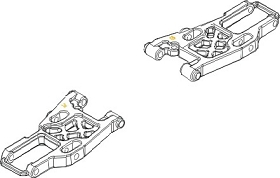 Querlenker unten front Vulcan Krick 850711
