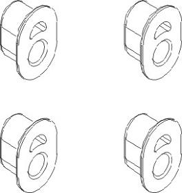 Distanzstücke (4) Krick 850713