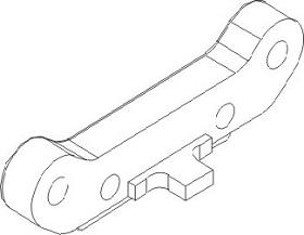 Qerlenkerhalteplatte heck unten Kunststoff Krick 850714