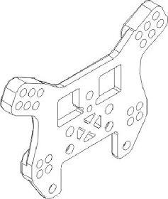 Stoßdämpferhalter hinten 1:16 Krick 850727