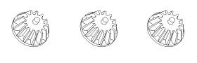 Differentialkegelräder klein (3) Krick 850763