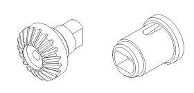 Differentialausgang mit Zahnrad links Vulcan Krick 850766