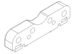 Qerlenkerhalteplatte front unten Kunststoff Vulcan Krick 850767