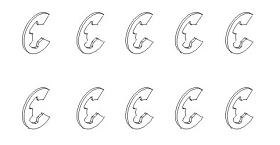 E-Clip 2,3x0,4 (10) Krick 850779