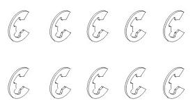 E-Clip 3x0,4 (10) Krick 850780