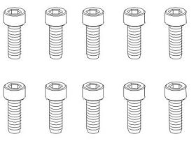 Schrauben M2,5x8 Hex (10) Krick 850787