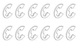 E-Clips 4x0,4 (12) Krick 850800