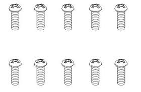 Schrauben BT 2,6x6 BH weiß (10) Krick 850805