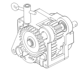 Getriebe 1-Gang kpl. Vulcan Krick 850842