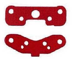 Alu-Querlenkerhalteplatten rot Krick 850903