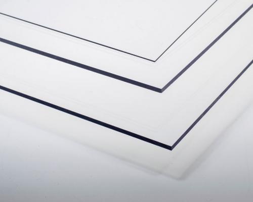 Kunststoffplatte Polyester transparent 3x194x320 mm Krick rb603-06