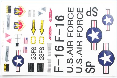 Dekorbogen F-16 Hype Kyosho 022-1581