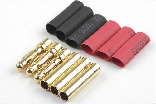 Goldkontaktstecker 4mm 3 Paar Hype Kyosho 086-1040