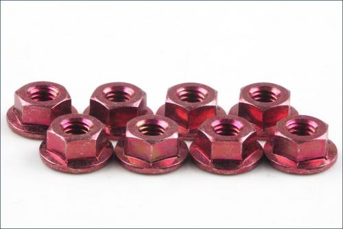 Bundmuttern M4 rot (8) Kyosho 1-N4045F-R