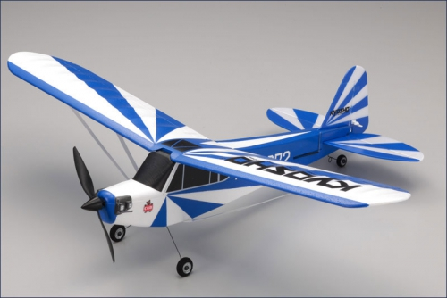 EP Clipped Wing Cub 2,4Ghz r/s, blau Kyosho 10752RS-CBL