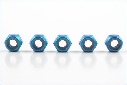 Muttern Alu M4 blau (5) Kyosho 1354