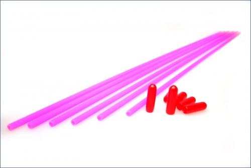 Antennenrohre neonpink (6) Kyosho 1706