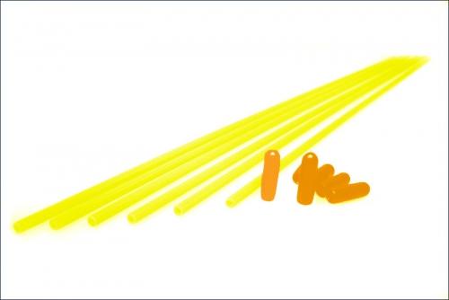 Antennenrohre neongelb (6) Kyosho 1707