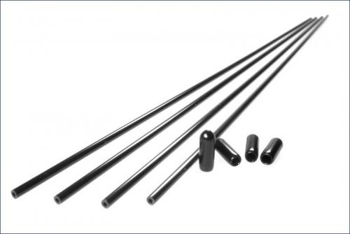 Antennenrohre schwarz (4) Kyosho 1708